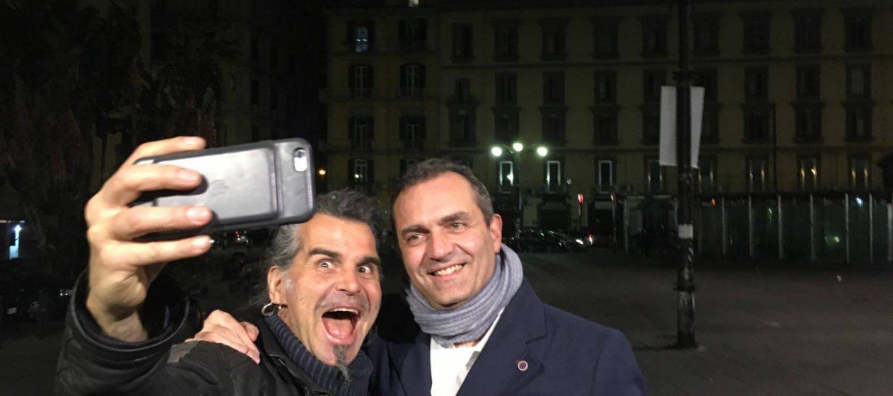 Luigi de Magistris con Piero Pelù
