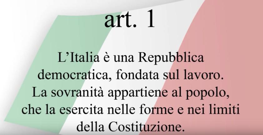 Articolo 1 della Costituzione Italiana