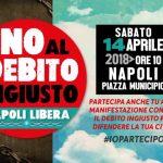 """14 Aprile 2018 ore 10.00 Piazza Municipio per dire: """"NO AL DEBITO INGIUSTO"""""""